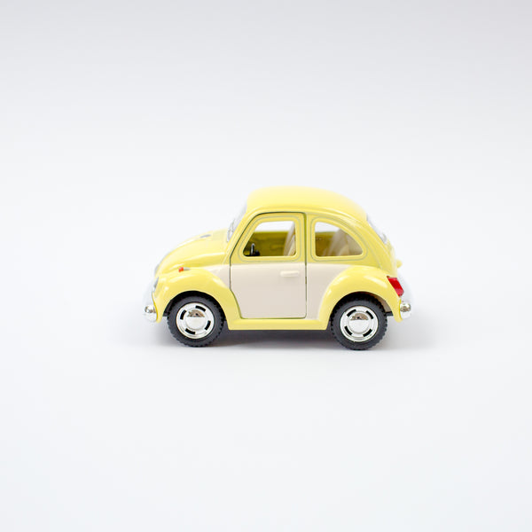 White Door VW Beetle | Pastel Yellow