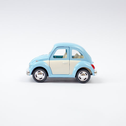 White Door VW Beetle | Pastel Blue