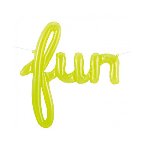 North Star Neon Fun Script Balloon | Green