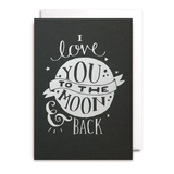 I LOVE YOU TO THE MOON & BACK CARD