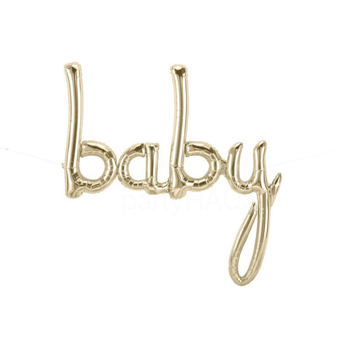 Northstar Baby Script Balloon | White Gold