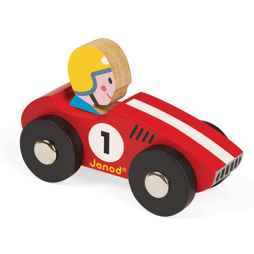 Janod Story Racing Racer Car Red