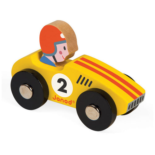 Janod Story Racing Racer Car yellow