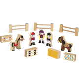 Wooden Mini Story Set - Riding School