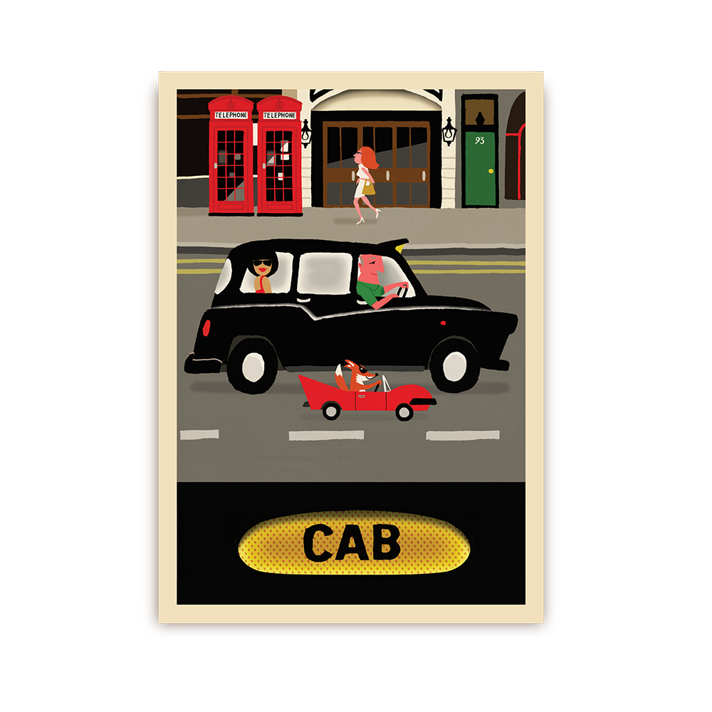 PAUL THURLBY LONDON CAB POSTCARD