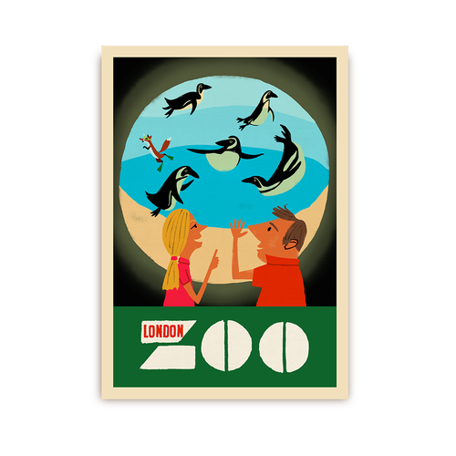 PAUL THURLBY LONDON ZOO POSTCARD