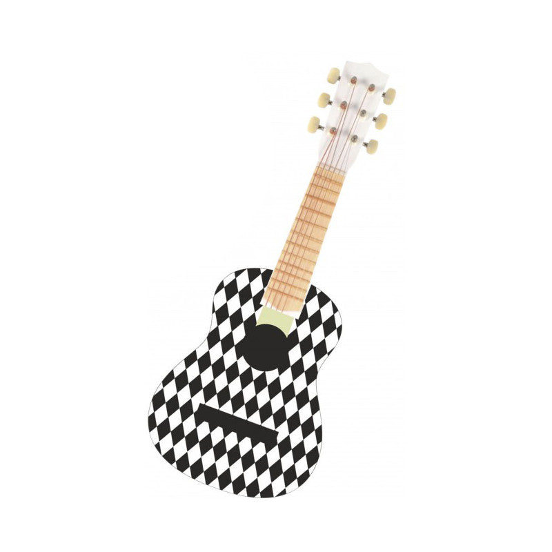 MONOCHROME HARLEQUIN GUITAR