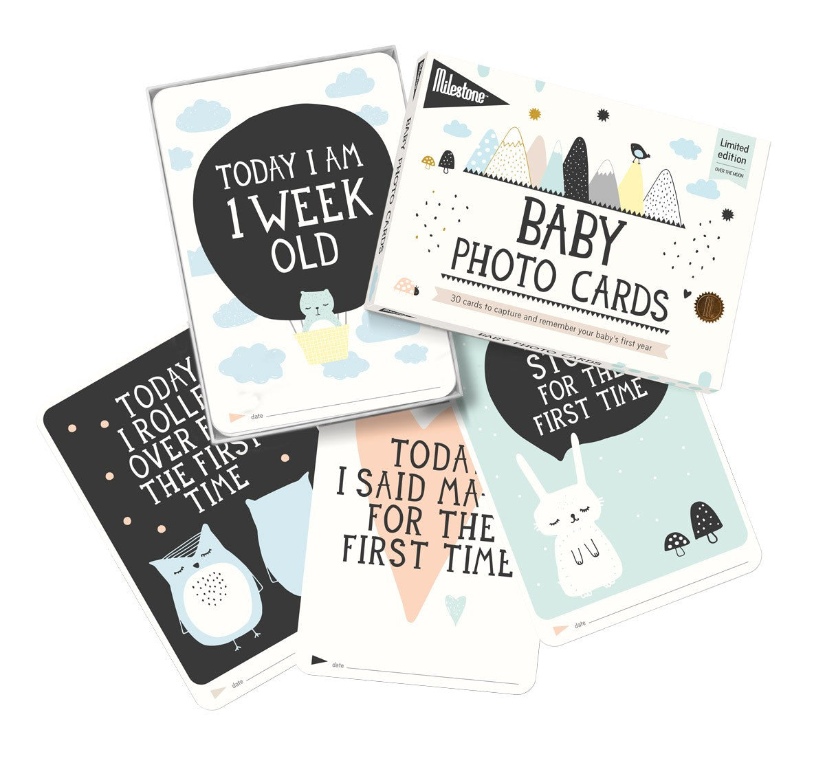 Baby Milestone Cards | Over The Moon