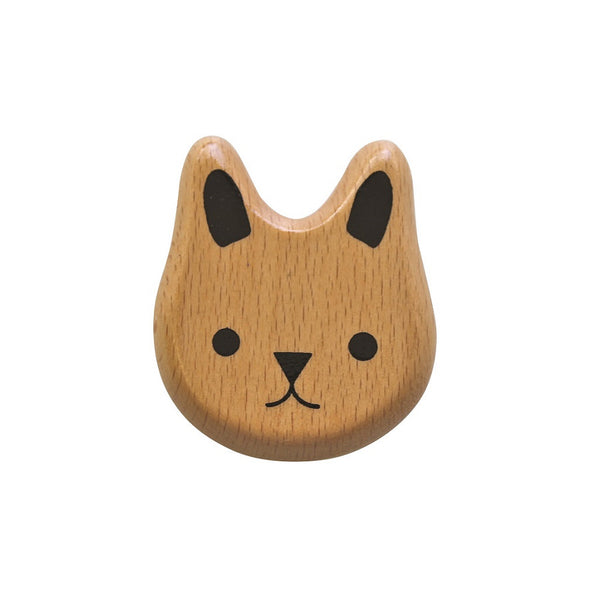 WOODEN BUNNY RATTLE
