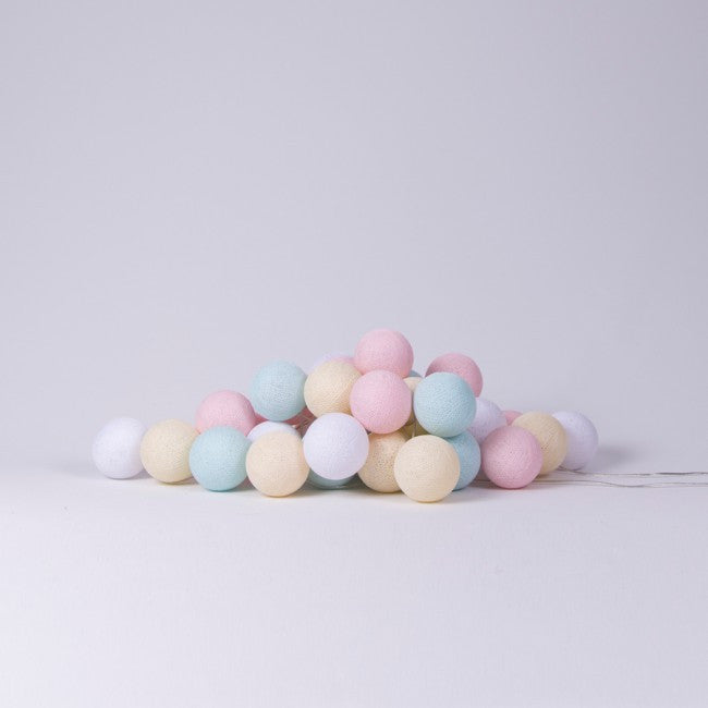Cotton Ball Lights - Pastel Candy