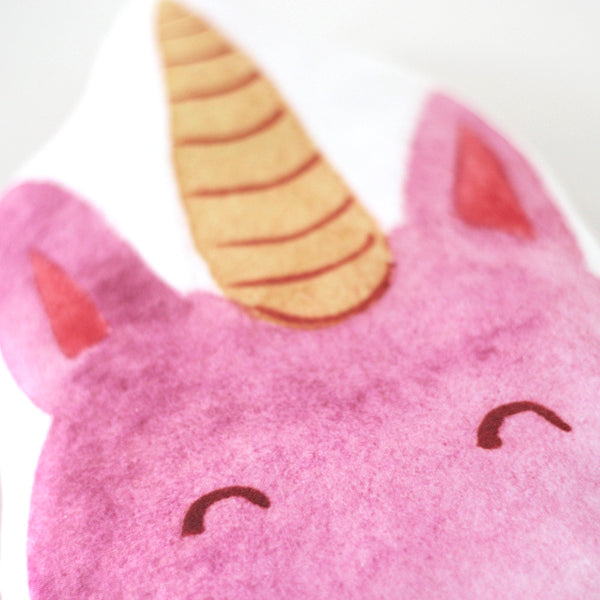 PINK UNICORN FACE CUSHION