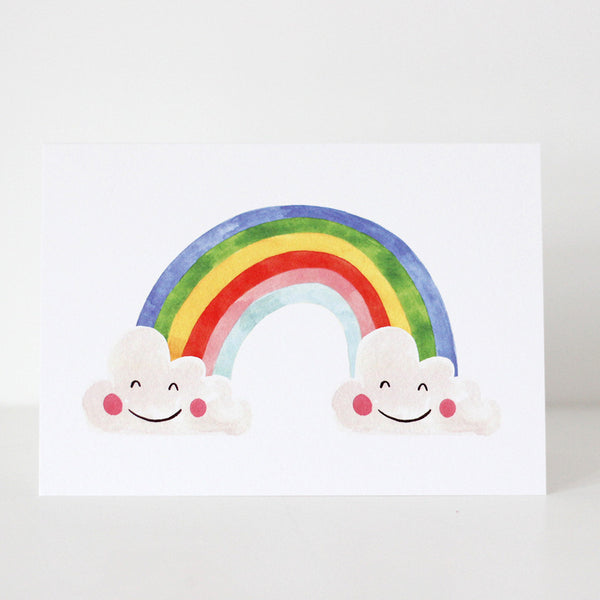 RAINBOW WATERCOLOUR CARD