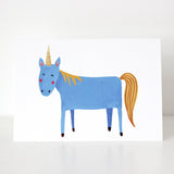 UNICORN WATERCOLOUR CARD