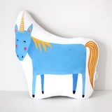BLUE UNICORN CUSHION