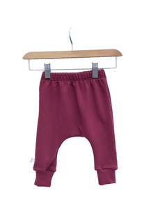 Harem Slim Pants || Merlot Fleece