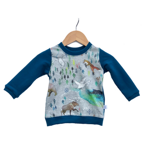 Pullover Sweater || Aurora Winter With Moroccan Blue