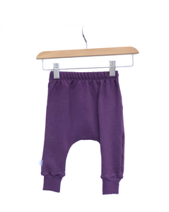Harem Slim Pants || Plum Fleece