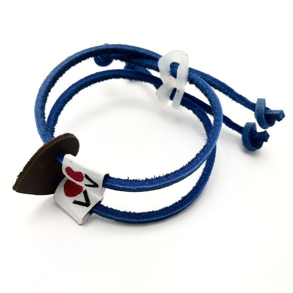 Luv Is Greater Bracelet Blue