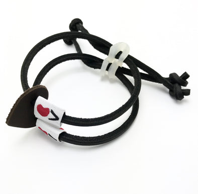 Luv Is Greater Bracelet Black