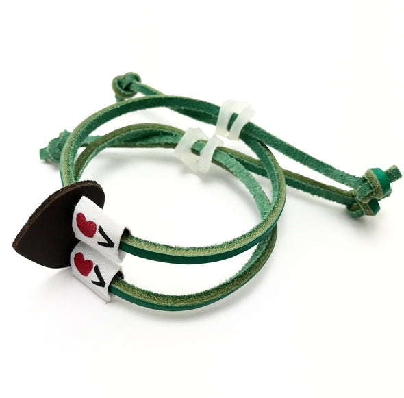 Luv Is Greater Bracelet Bright Green