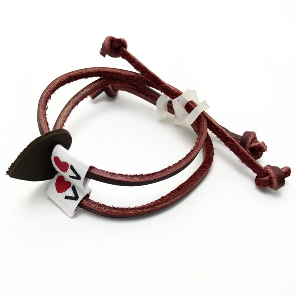 Luv Is Greater Bracelet Deep Maroon