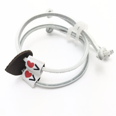 Luv Is Greater Bracelet White