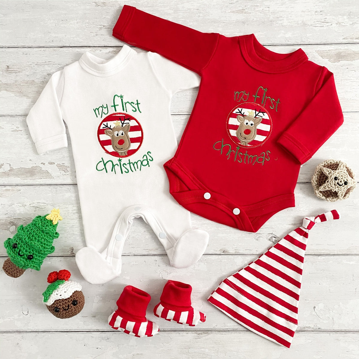 Santa hats and little elf hats in premature baby size; how cute are these!!
