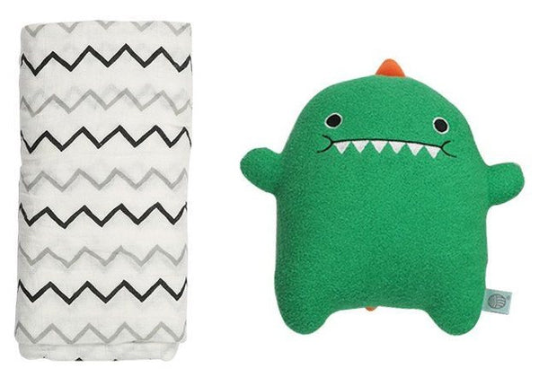 Dino toy and swaddle