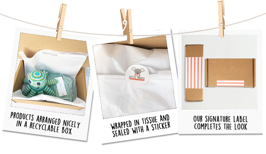 Little Mouse Baby Clothing and Gifts Packaging
