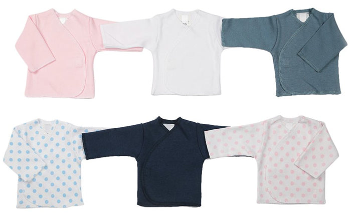 Premature baby wrap-around tops