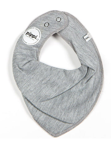 Organic Cotton Scarf Bib - Grey