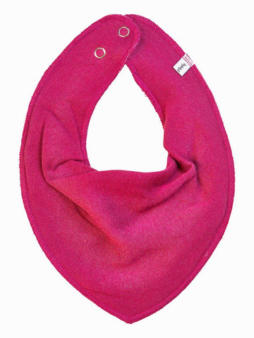 Organic Cotton Scarf Bib - Hot Pink