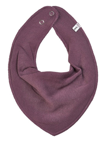 Organic Cotton Scarf Bib - Plum