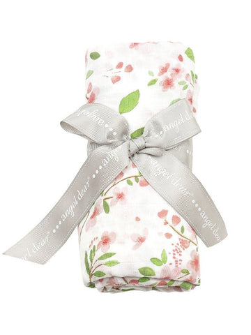 Large Cherry Blossom Pattern Bamboo Muslin Swaddle