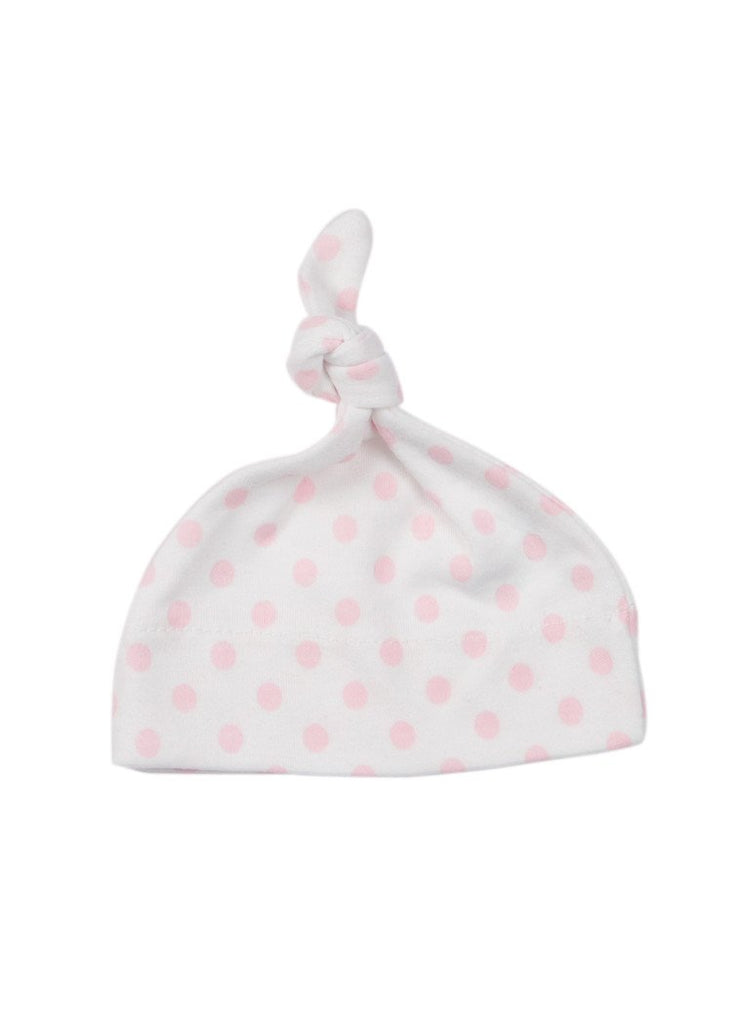 Pink Spotty Knotted Hat (Premature)