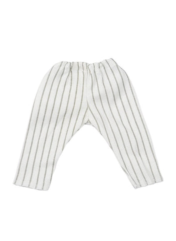 White & Grey Stripe Premature Baby Trousers (1.5-3LB)