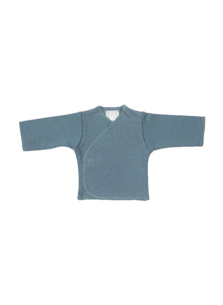Slate Wrapover Long Sleeve Shirt  (1.5-3lb Premature Baby)