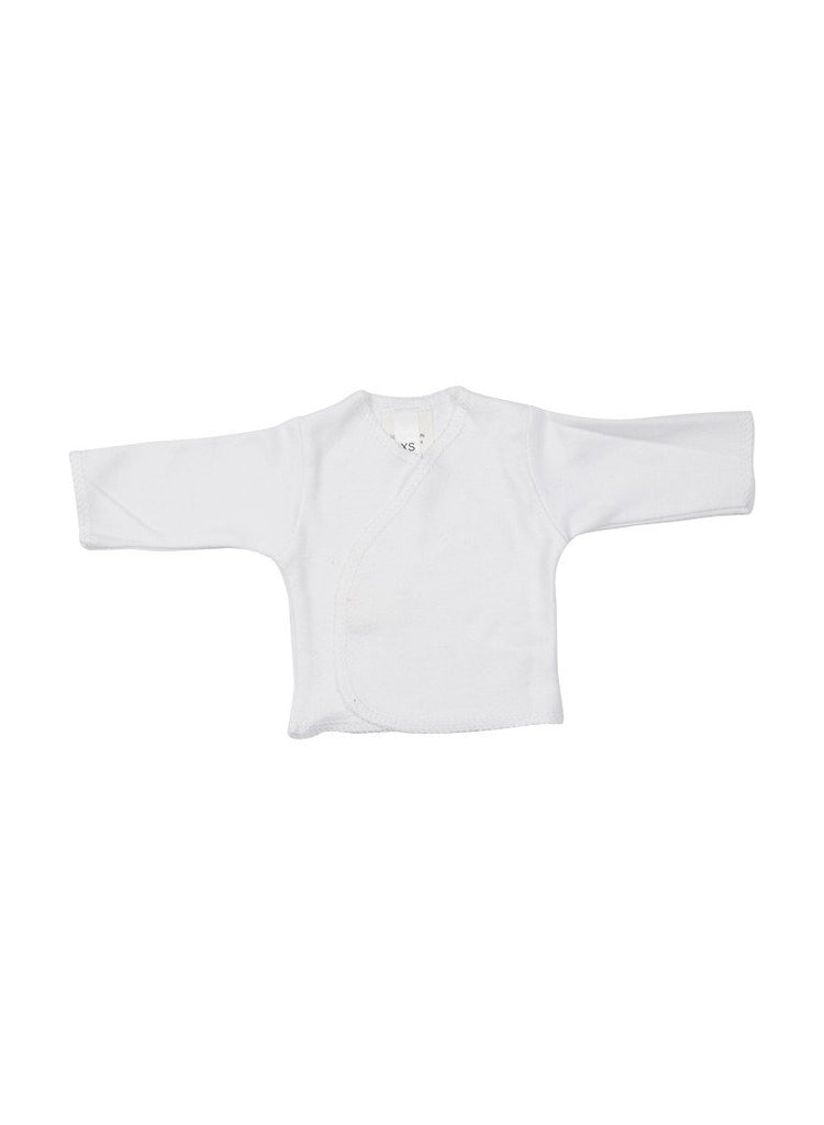 White Wrapover Long Sleeve Shirt (Premature)