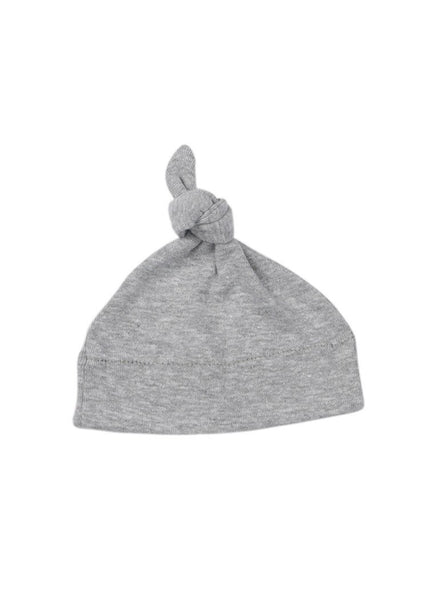 Grey Knotted Premature Baby Hat (1.5-3lb & 4-6lb)