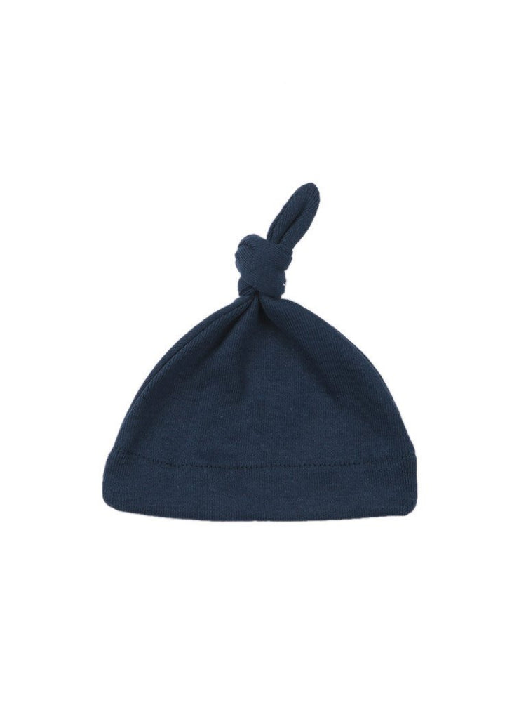 Navy Knotted Hat (Premature Baby Clothing)
