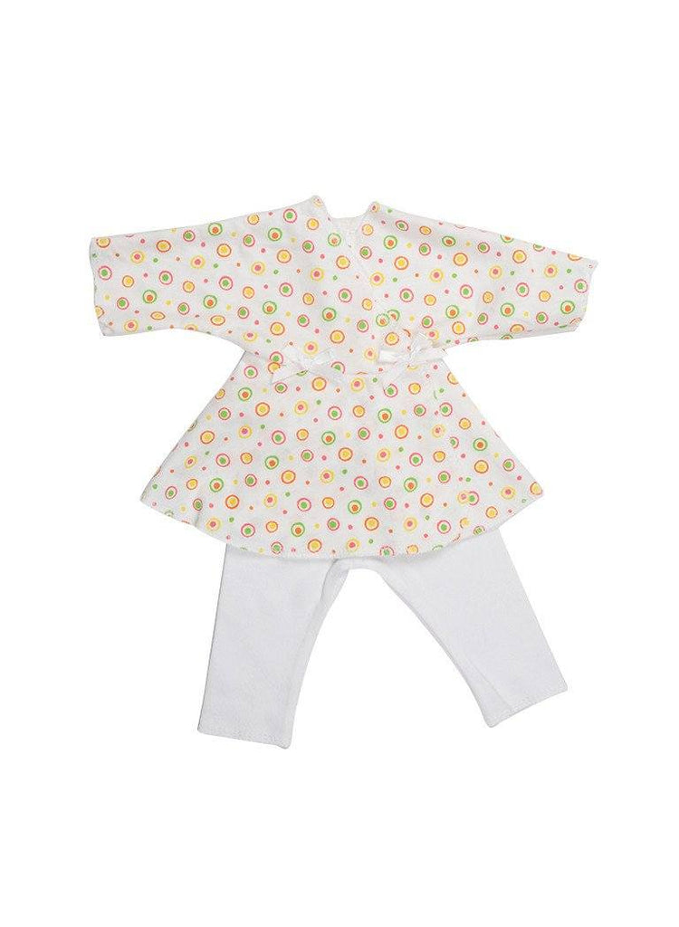 Bubbles Dress & White Trousers (Premature Baby Girl)