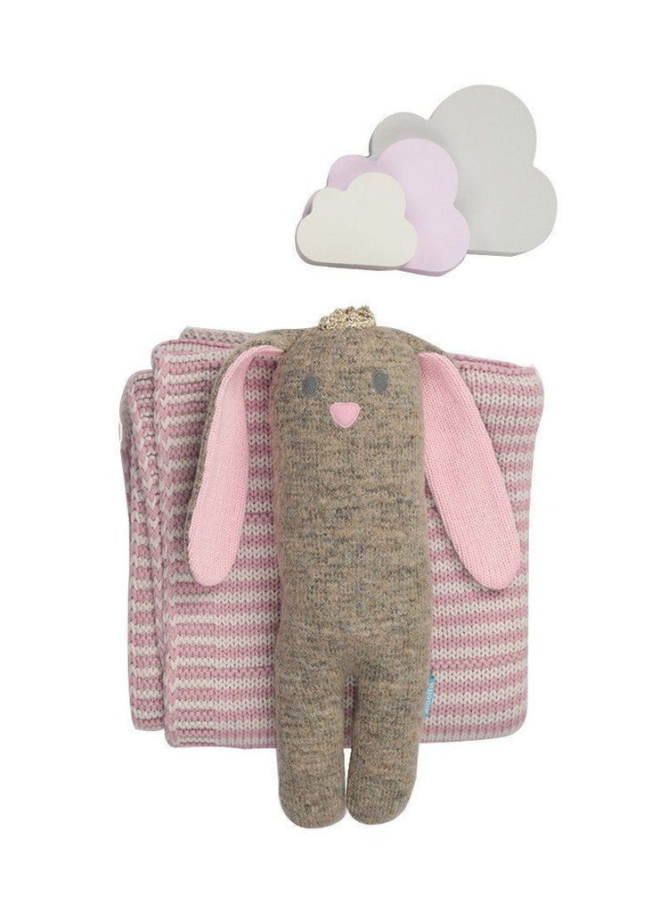 Princess Beatrice Bunny & Dainty Stripe Toffee Moon Blanket