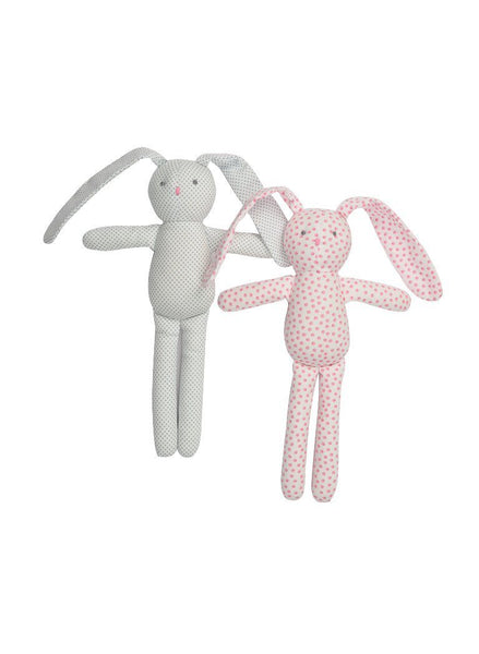 Blue/Grey Spotted Bunny Rabbit Snuggle Toy