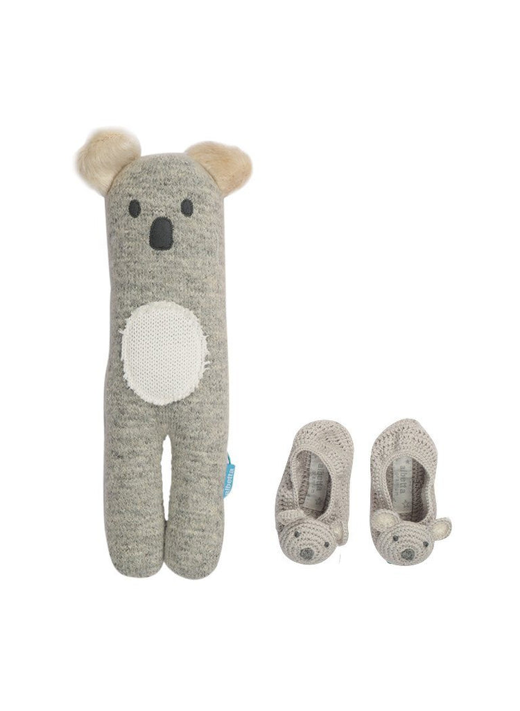 Keith Koala Toy & Booties - Newborn Gift Set