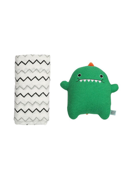 Dino and Extra Large 100% Cotton Chevron Swaddle Blanket