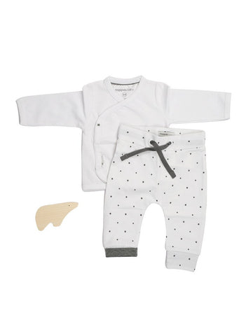 Wrap-Over Top & Gorgeous Star Design Trousers (Tiny Baby)