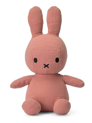 Miffy Muslin Plush Toy - Dusty Pink