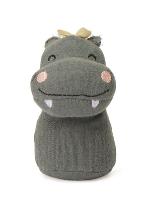 Grey Hippo Rattle by Picca Loulou