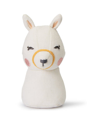 White Llama Rattle by Picca Loulou