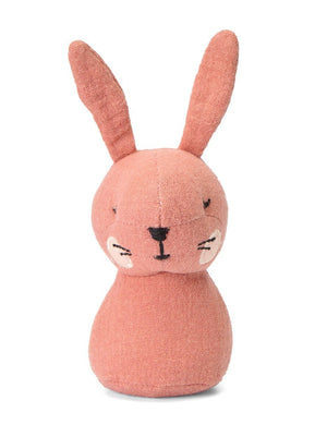 Pink Bunny Rabbit Rattle by Picca Loulou